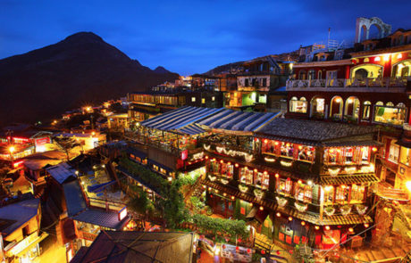 Jiufen Old Street Night View